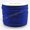 Cord Thread & Wire, Satin Cord, Color #17 royal blue, Approx 2mm, 50 yards per spool, Sold by spools