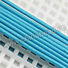 Cord Thread & Wire, Round Leather Cord, Color #4 Deep skyblue, Approx 1mm, 100 yards per bundle, Sold by bundles