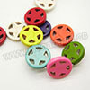 Gemstone Beads, Howlite, Multi-colored, Circle and star, Approx 20x4mm, Hole: Approx 1-2mm, 20 pcs per strand, Sold by strands