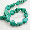 Gemstone Beads, Howlite, Turquoise color, Nugget, Approx 16x13mm, Hole: Approx 1-2mm, 26 pcs per strand, Sold by strands