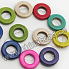 Gemstone Beads, Howlite, Multi-colored, Donut or Circle, Approx 20x5mm, Hole: Approx 1-2mm, 20 pcs per strand, Sold by strands
