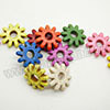 Gemstone Beads, Howlite, Multi-colored, Gear, Approx 29x8mm, Hole: Approx 1-2mm, 14 pcs per strand, Sold by strands