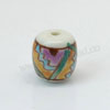 Handpainted Porcelain Beads, Colorful, Abstract painting, Drum or Barrel, Approx 11x10mm, Hole: Approx 2mm, Sold by PCS