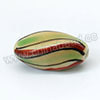 Handpainted Porcelain Beads, Light camel, Colorful stripe, Twisted, Approx 20x9mm, Hole: Approx 2mm, Sold by PCS