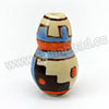 Handpainted Porcelain Beads, Light camel, Colorful abstract painting, Calabash, Other, Approx 17x10mm, Hole: Approx 2mm, Sold by PCS