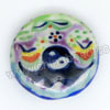 Handpainted Porcelain Beads, Colorful, Colorful stripe the eight diagrams, Side drilled coin disc, Flat Round, Approx 20x6mm, Hole: Approx 2mm, Sold by PCS