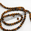 Gemstone Beads, Tigereye, Brown, Round, Approx 4mm, Hole: Approx 1mm, Sold per 16-inch strand