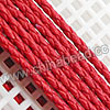 Cord Thread & Wire, Round PU Woven Cord, Red, Approx 4mm, 100 yards per spool, Sold by spools