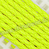 Cord Thread & Wire, Round PU Woven Cord, Yellow, Approx 4mm, 100 yards per spool, Sold by spools