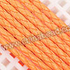 Cord Thread & Wire, Round PU Woven Cord, Orangered, Approx 4mm, 100 yards per spool, Sold by spools