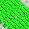 Cord Thread & Wire, Round PU Woven Cord, Limegreen, Approx 4mm, 100 yards per spool, Sold by spools