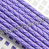 Cord Thread & Wire, Round PU Woven Cord, Blue Lilac, Approx 4mm, 100 yards per spool, Sold by spools