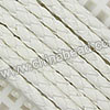 Cord Thread & Wire, Round PU Woven Cord, White, Approx 4mm, 100 yards per spool, Sold by spools