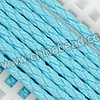 Cord Thread & Wire, Round PU Woven Cord, Skyblue, Approx 4mm, 100 yards per spool, Sold by spools