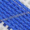 Cord Thread & Wire, Round PU Woven Cord, Royal Blue, Approx 4mm, 100 yards per spool, Sold by spools