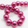 Pearl Beads, Glass Pearl, Color #15, Smooth round, Approx 12mm, Hole: Approx 1mm, Sold by strands