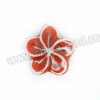 Handpainted Porcelain Beads, Maroon, Flower, Other, Approx 18x17x7mm, Hole: Approx 2mm, Sold by PCS