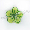 Handpainted Porcelain Beads, Green yellow, Flower, Other, Approx 18x17x7mm, Hole: Approx 2mm, Sold by PCS