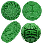 Green Cinnabar Beads