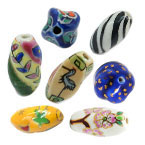 Twisted Porcelain Beads