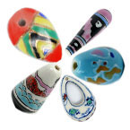 Teardrop Porcelain Beads