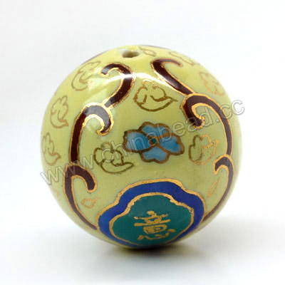 30mm Round Porcelain Beads