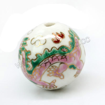 32mm Round Porcelain Beads