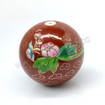 34mm Round Porcelain Beads
