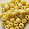 Glass seed beads, Opaque yellow and white, Round, Approx 3x4mm, Hole: Approx 1mm, Sold by bags