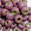 Glass seed beads, Opaque greenyellow and violet, Round, Approx 3x4mm, Hole: Approx 1mm, Sold by bags