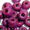 Glass seed beads, Opaque dark violet red, Round, Approx 3x4mm, Hole: Approx 1mm, Sold by bags