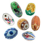 Oval Porcelain Beads