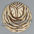 Carved Bone Pendants, Antique, Rose Flower, Flower,  Approx 40x6mm, Hole: Approx 2mm, Sold by PCS