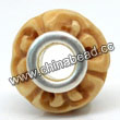 Carved Bone Beads, Antique, Sprial, Large Hole/European style, Rondelle, Approx 15x8mm, Hole:Approx 5mm, Sold by PCS