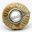 Carved Bone Beads, Ivory, Copper Cash, Large Hole/European style, Rondelle, Approx 15x8mm, Hole:Approx 5mm, Sold by PCS