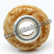 Carved Bone Beads, Antique, Leaves, Large Hole/European style, Rondelle, Approx 15x8mm, Hole:Approx 5mm, Sold by PCS