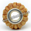 Carved Bone Beads, Antique, Bamboo, Large Hole/European style, Rondelle, Approx 15x8mm, Hole:Approx 5mm, Sold by PCS