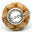 Carved Bone Beads, Antique, Chinese Weave, Large Hole/European style, Rondelle, Approx 15x8mm, Hole:Approx 5mm, Sold by PCS