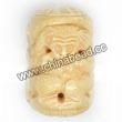 Carved Bone Beads, Ivory, Clever three monkeys, Cylinder, Approx 51x34mm, Hole: Approx 2mm, Sold by PCS