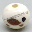 Carved Bone Beads, White, Likable tortoise, Round, Approx 12mm, Hole:Approx 2mm, Sold by PCS