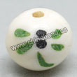 Carved Bone Beads, White, Beautiful green dragonfly, Round, Approx 12mm, Hole:Approx 2mm, Sold by PCS