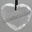 Acrylic beads, Crystal color, Faceted heart, Approx: 31x31x10mm, Top drilled hole, Hole:Approx 1-2mm, Sold by BAG