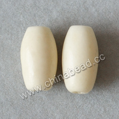 Carved Bone Beads, White, Pretty smooth bead, Rice, Approx 5x10mm, Hole:Approx 2mm, Sold by PCS