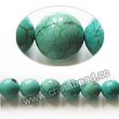 Gemstone Beads, Magnesite, Turquoise blue, Smooth round, Approx 6mm, Hole: Approx 1mm, Sold per 16-inch strand