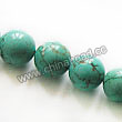 Gemstone Beads, Magnesite, Turquoise blue, Smooth round, Approx 8mm, Hole: Approx 1mm, Sold per 16-inch strand