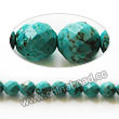 Gemstone Beads, Magnesite, Turquoise blue, Faceted round, Approx 4mm, Hole: Approx 1mm, Sold per 16-inch strand