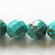 Gemstone Beads, Magnesite, Turquoise blue, Faceted round, Approx 12mm, Hole: Approx 1mm, Sold per 16-inch strand
