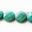 Gemstone Beads, Magnesite, Turquoise blue, Faceted flat round / disc, Approx 25x8mm, Hole: Approx 1mm, Sold per 16-inch strand
