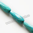 Gemstone Beads, Magnesite, Turquoise blue, Faceted teardrop, Approx 10x28mm, Hole: Approx 1mm, Sold per 16-inch strand