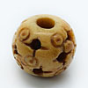 Carved Bone Beads, Antique, Multihole and small circle design, Round, Approx 14mm, Hole:Approx 3mm, Sold by PCS